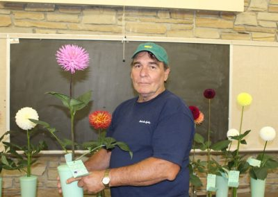 Gettsburg PA Dahlia Society 2013  Steve Trumpower - Best BB in Show - Parkland Rave