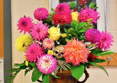 Gorgeous Dahlias Over Bones
