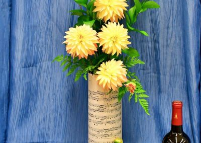 Stellar Dahlias in a Musical Vase
