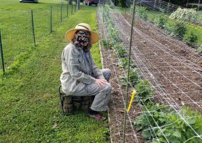 Connie Richards weeding